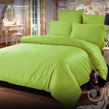 Сатин однотонный спокойный зеленый